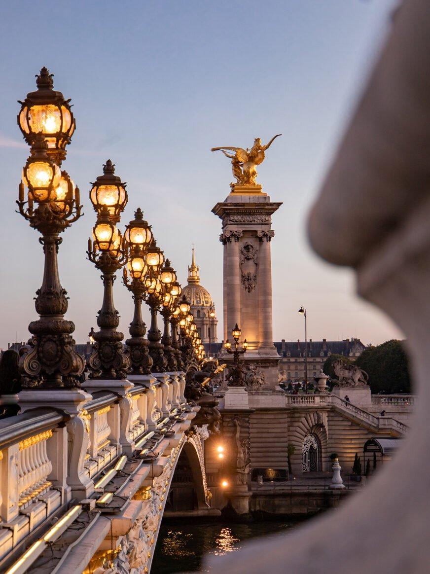This picture shows the Alexandre III bridge in Paris