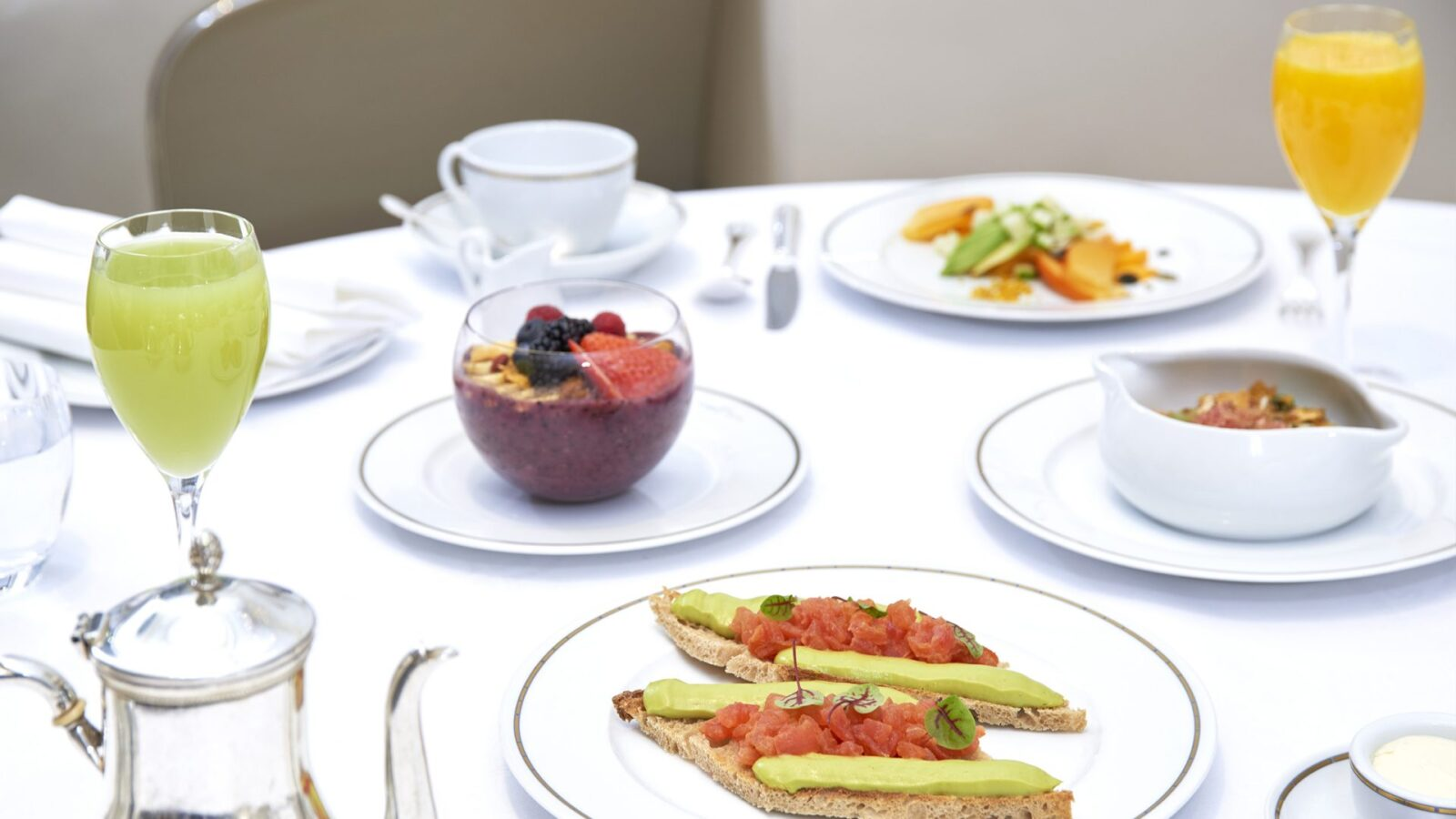 Healthy breakfast at Hôtel Plaza Athénée, Paris