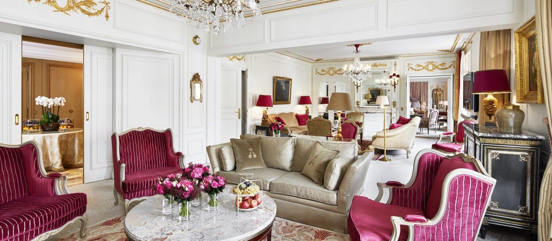 Royal suite paris h tel plaza ath n e dorchester - Salon prestige organza ...