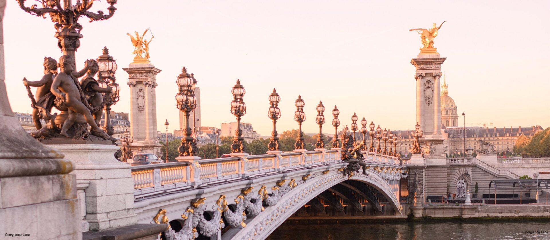 Bridge near Hôtel Plaza Athénée by Photographer Georgianna Lane