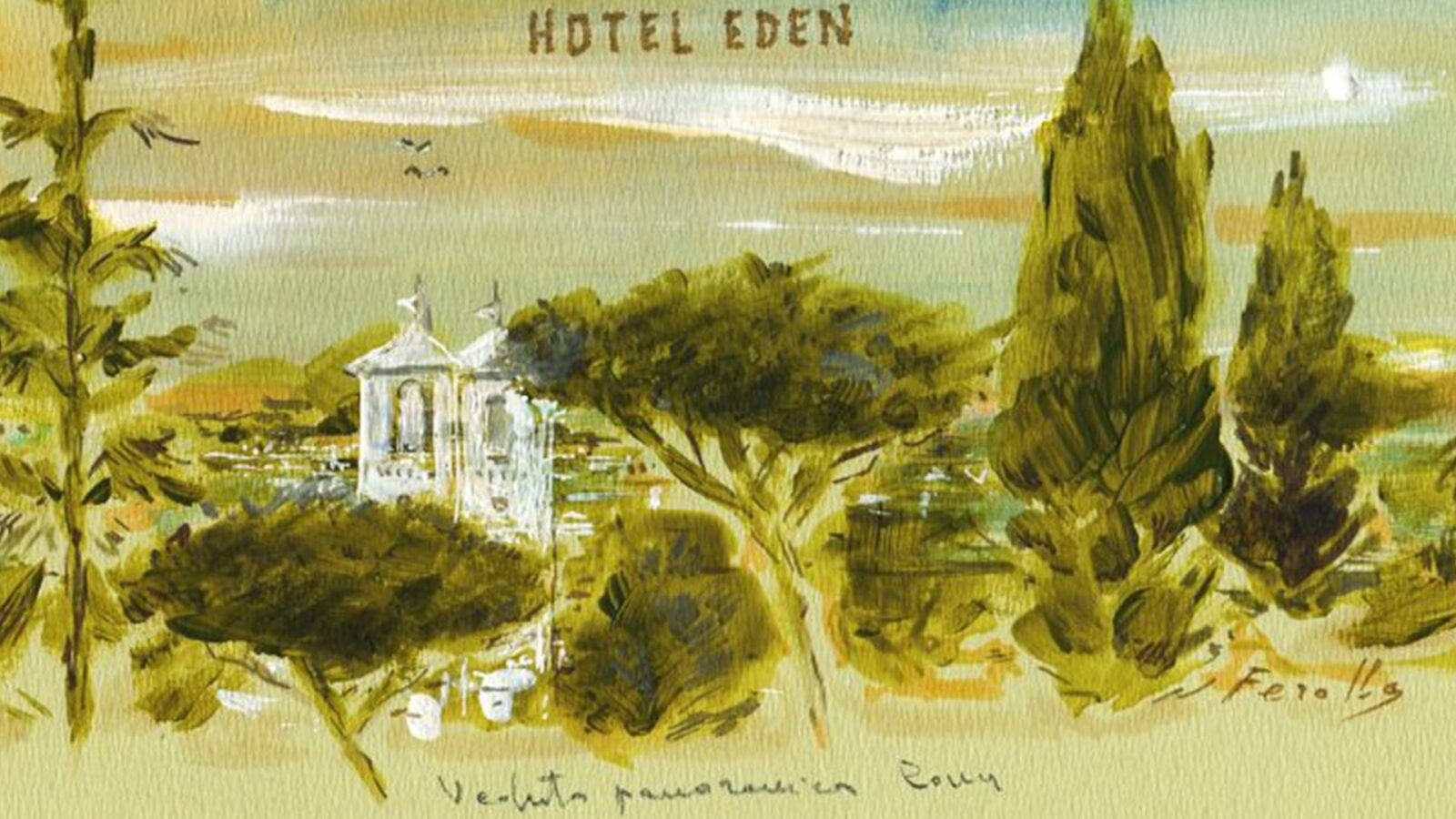 Artist in residence Andrea Ferolla at Hotel Eden
