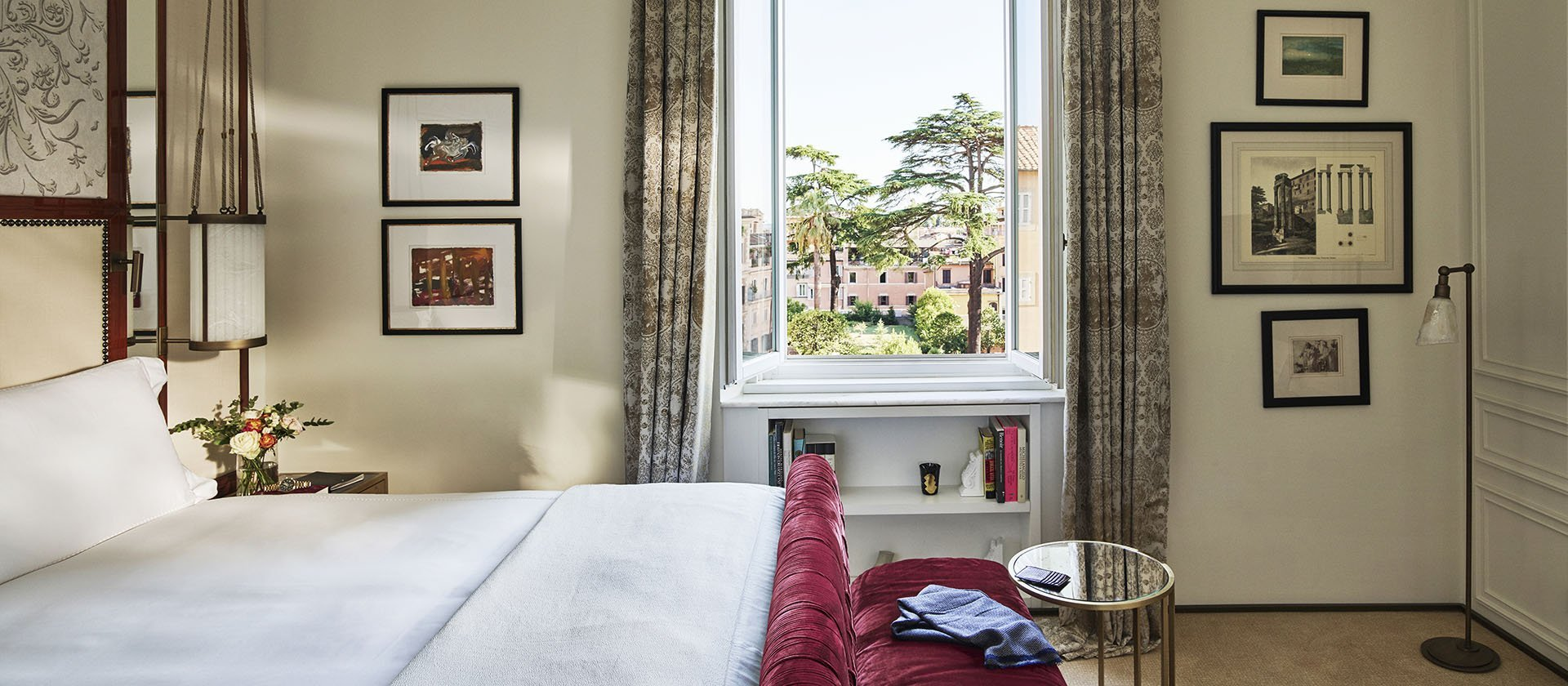 Bedroom in Dolce Vita suite at Hotel Eden