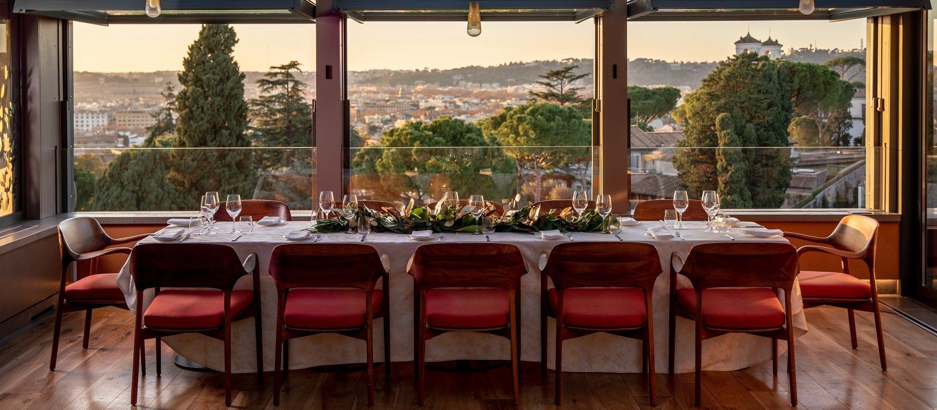 Table at the Il Giardino Ristorante at Hotel Eden Rome