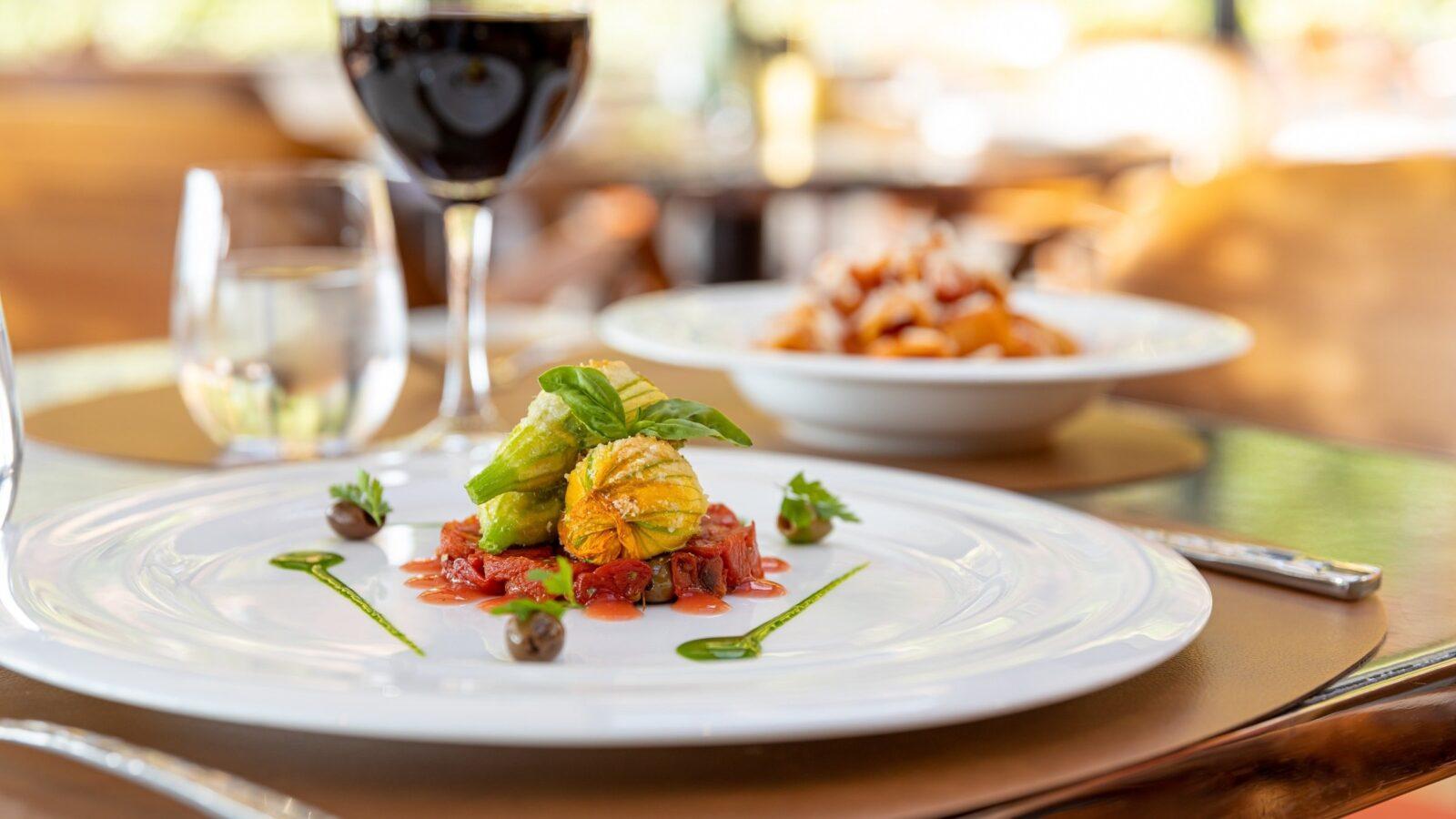 Delicious dinner at Il Giardino Ristorante