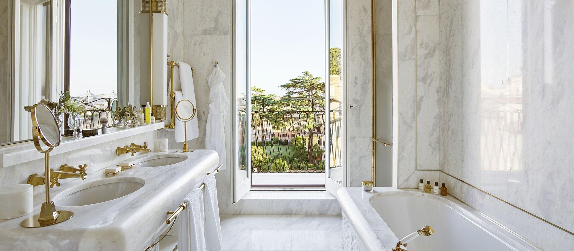 Bathroom inside the VIlla Medci Presidential Suite at Hotel Eden