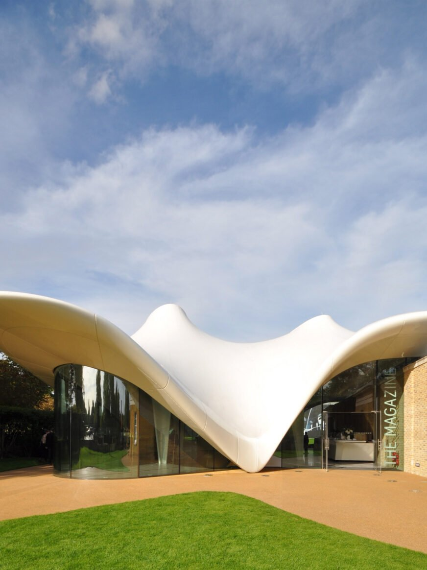 The Serpentine Sackler Gallery extension by Zaha Hadid